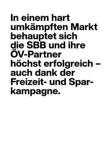 SBB Freizeit- und Sparkampagne