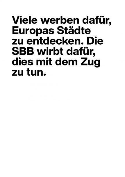 SBB IP-Kampagne Gleich mittendrin