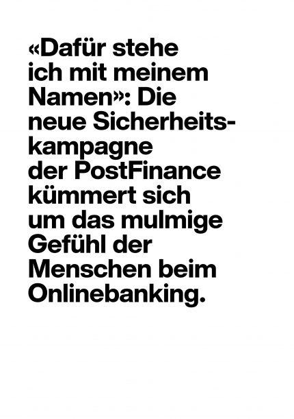PostFinance Sicherheitskampagne